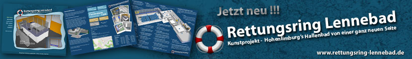 Banner - Die Rettungsring-Lennebad.de-Webseite - In 3D & als Broschüre/Flyer